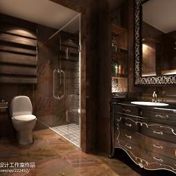 中式仿古浴室柜图片欣赏