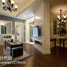 欧式装修风格隔断客厅布置图片