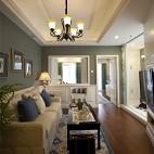 欧式风格样板间客厅设计