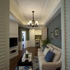 欧式风格样板间客厅吊顶设计