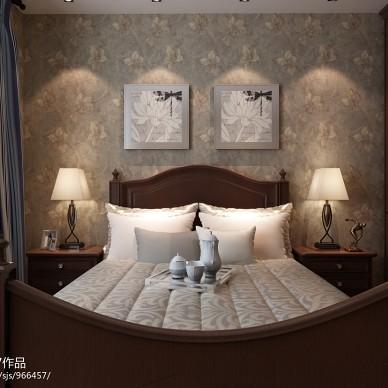 美式双人床装修图片