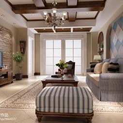 美式二居室文化砖装修效果图