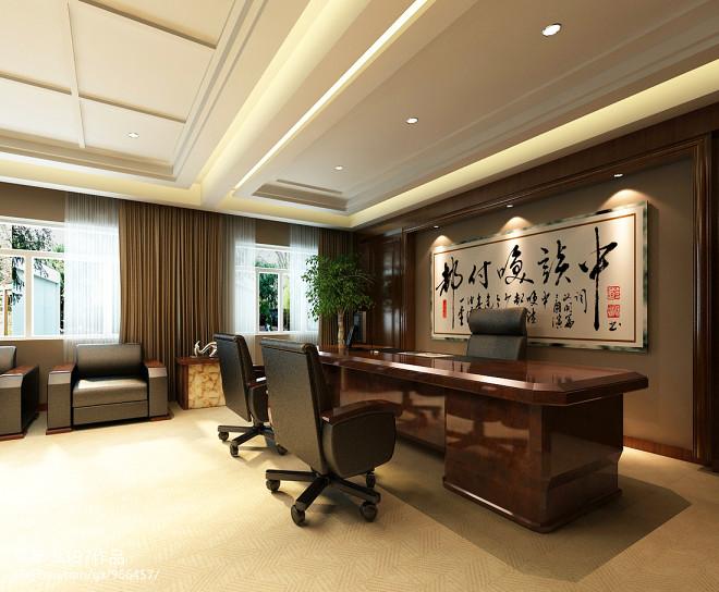 老总办公室背景墙装修效果图