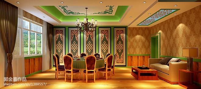 休闲会所_8万元餐饮空间800平米装修案例_效果图 - 蒙古族休闲餐厅 - 设计本