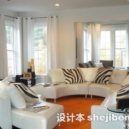 2017客厅拐角沙发装饰图片