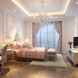 欧式儿童房小孩床设计图片