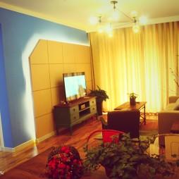 混搭风情客厅电视背景墙图片