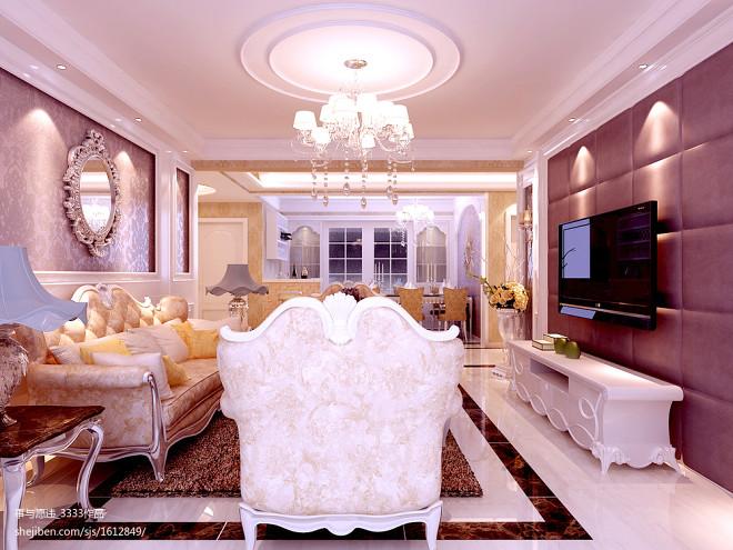 客厅欧式布艺沙发装修图片
