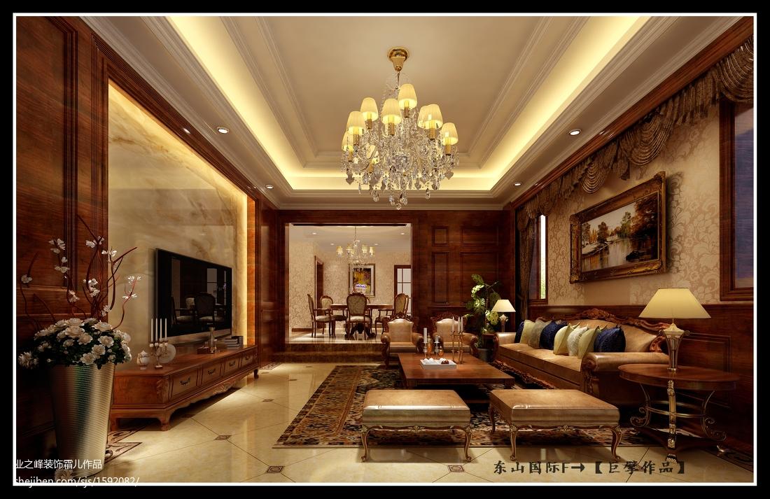 美式风格电视背景墙_美式风格电视背景墙装修图片 – 设计本装修效果图