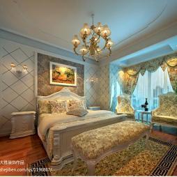 豪华家装客厅与卧室隔断设计