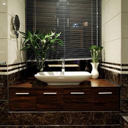 现代风格样板房卫浴洗脸盆柜装修图片大全
