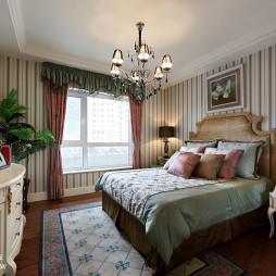 样板房欧式卧室背景墙装修效果图大全
