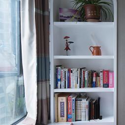 现代卧室博古架设计