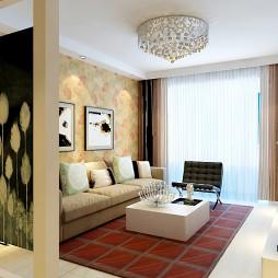 两室一厅现代家装效果图