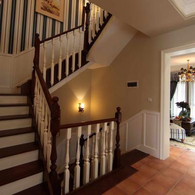 美式复式楼房屋楼梯设计图