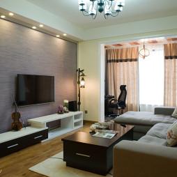 混搭风格客厅电视背景墙装修