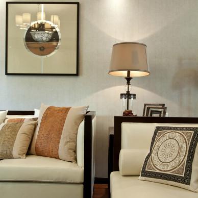 三居室中式风格客厅背景墙装修图片