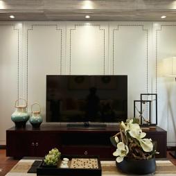 中式客厅电视背景墙装修