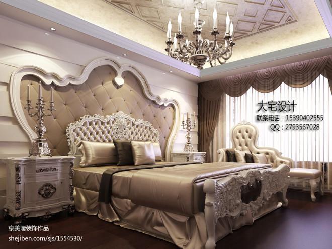 复式楼咖啡色欧式窗帘装修效果图