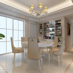 简欧风格白色餐桌设计图片