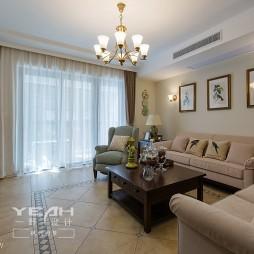 美式风格客厅背景墙图片