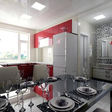 餐厅浴室玻璃马赛克背景墙装修图片