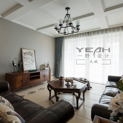 简约美式客厅吊顶装修图