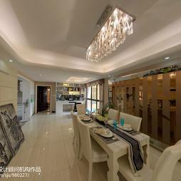 前卫现代风餐厅水晶灯饰装修设计