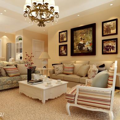 混搭客厅双人沙发装修效果图