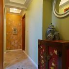 美式风格过道背景墙装修效果图