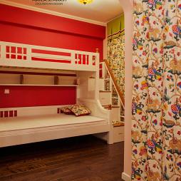 美式风格儿童实木床装修效果图