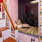 美式风格儿童粉色房间装修效果图