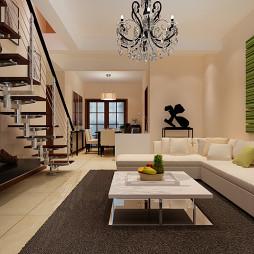 复式家具白色沙发装修设计图片