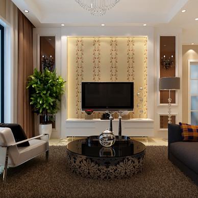 客厅家具黑白沙发装修设计图片