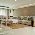 现代小户型客厅背景墙装修效果图