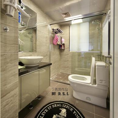 现代洗手间地砖效果图
