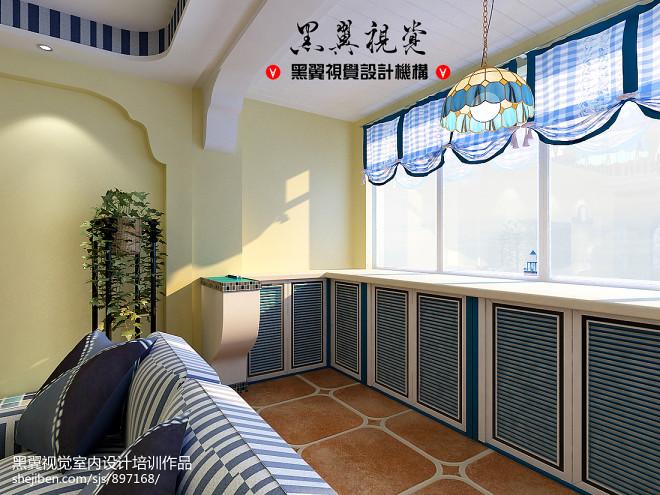 三居室地中海阳台装修图片