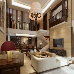 住宅中式客厅吊顶设计效果图