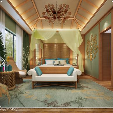 中式卧室度假别墅装修图片