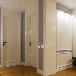 美式风格家装过道浅色木地板装修效果图大全