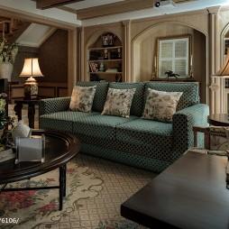 混搭风格休闲区布艺沙发装修图片