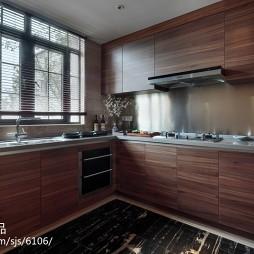 中式厨房装修效果图大全2017图片