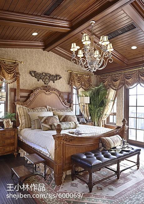 美式卧室新房布置效果图