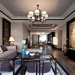 中式风格样板房客厅吊顶装修