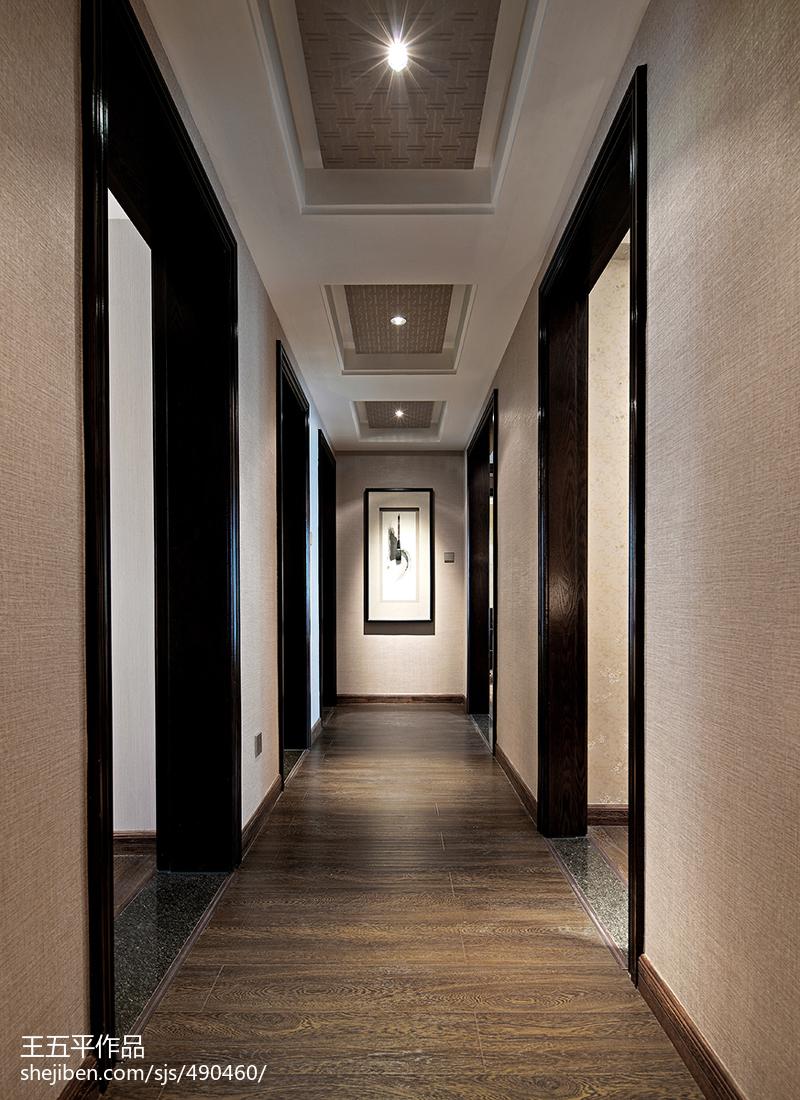 生活资讯_中式风格样板房过道吊顶装修效果图大全 – 设计本装修效果图