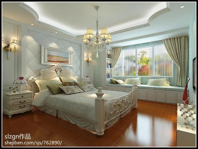 复式楼木床装修图片