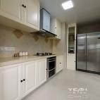 休闲美式风格厨房灶台装修设计图片