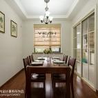 美式三居室餐厅窗帘图片