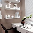 现代风格样板房书房装修图