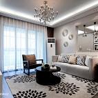 现代风格样板房客厅窗帘图片